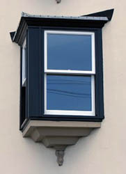 Oriel window sash.