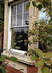 Queen Ann Sliding Sash Window.
