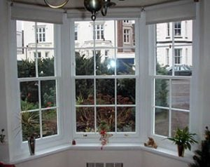 Beorgian style bay -  Sliding Sash Window.