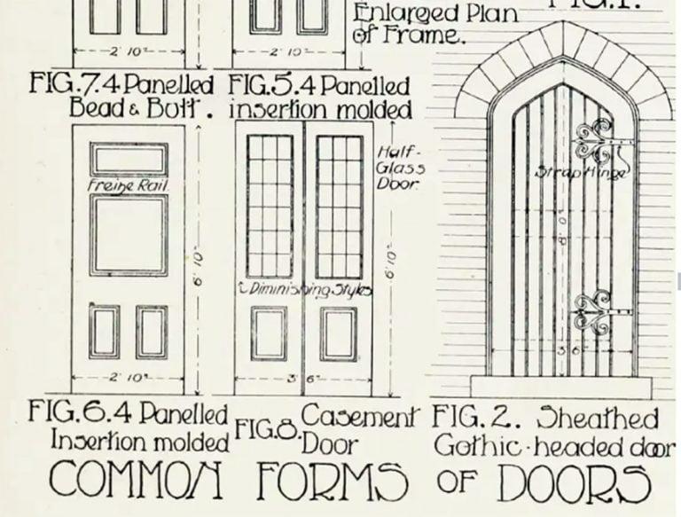 Door Drawing - 1908