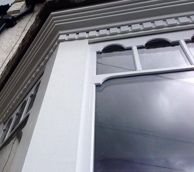 Double Glazing Castellated Sash Windows.