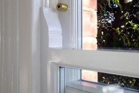 Replica Double Glazed Wooden Sash Window with security lock