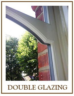 double glazed sash frame window.