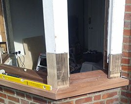 Victorian Bay Window in Oxfordshire- replace rotten window sill