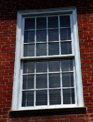 12 over 12 glazing in a sash window.