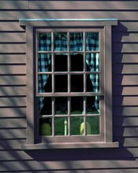 Sash Window 12 over 8 glazing bars.