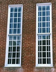 Double Hung Sliding Sash Window.