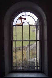 Arched Double Hung Sliding Sash Window with marginal glazing pattern