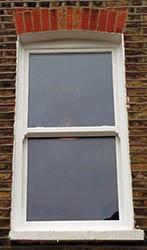 Timber Sash Window. 1 pane over 1 pane glazing pattern.