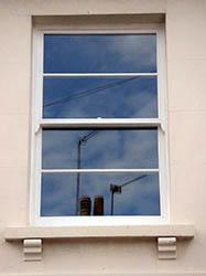 Timber Sash Window. 2 over 2 - Horizontal Bars.