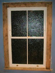 Timber Sash Window. 2 pane over 2 pane.