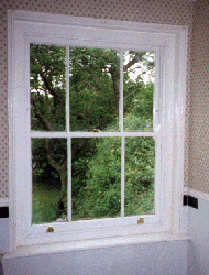 3 over 3 Double Hung Sliding Sash Window.