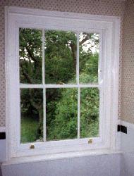 3 over 3 sash window - Equal pane size.