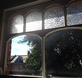 Castellated Pattern wooden sash-window