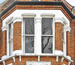 Period timber bay window - 1 over 1