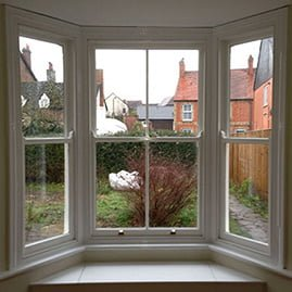 Finished repairs to timber bay sash window.