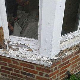 Wooden Bay sash Window Rebuild
