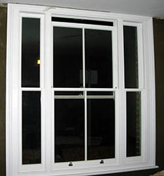 venetian timber sash window - 2 over 2
