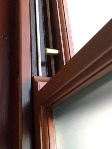 Security Stops For Timber Sash Windows. Double Hung.