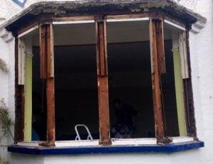 Restore wooden Bay Window - Harrow North West London - Sash Window Specialist Berkshire & London