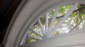 Arched Wagon Wheel Double Glazed Period Window.