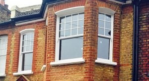 Double Glazed & Draft Proofed Wooden Sliding Sash Windows. Queen Ann Style