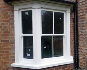 Double Glazed & Restored Victorian Bay Window in Thame Oxfordshire - Sash Window Specialist London & Berkshire