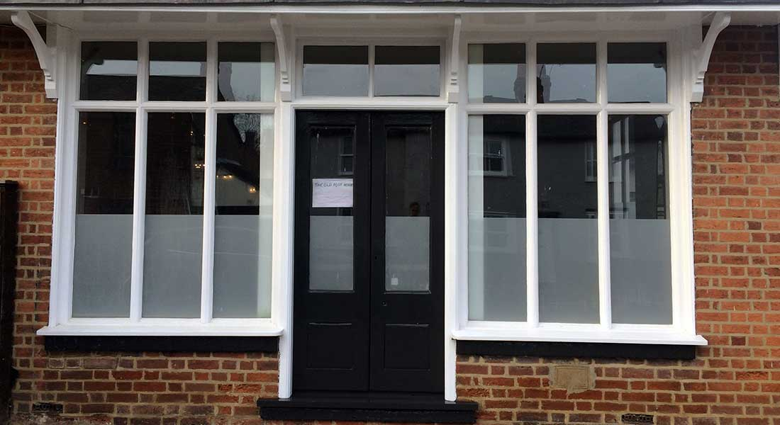 Heritage Shop front with door | Sash Window Specialist East