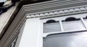 London Sash Window Specialist. Double Glazed Castellated Sash.
