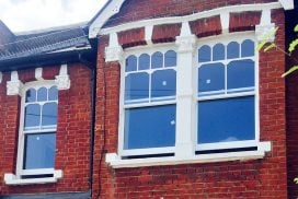 London Sash Windows Specialist. Castellated Timber Sashes Double Glazing.. Shepards Bush London