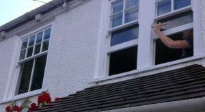 Timber Sash Windows repair & paint by Sash Window Specialist Yorkshire
