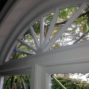 Double glazed period windows.