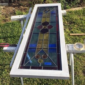 Lead light casement frame.