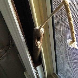 Cast iron sash window weight