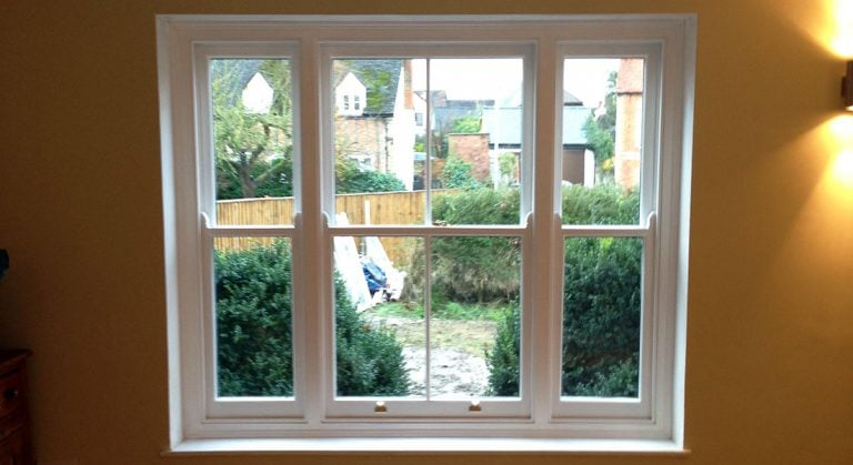 Double Glazed Venetian Timber Sash Window | Oxfordshire Sash Window Specialist