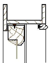 Sash Window Draught-Seals,  Head section