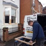 Glazing upgrades in a double hung sash window | sash Window Specialist Midlands UK