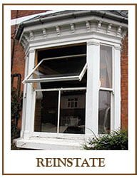 Our Reinstate Sash service restores the original character to your home. Replacing ugly box sash window conversions with stylish wooden double hung replica sashes.