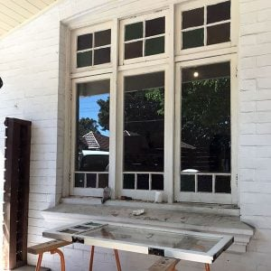 Repair wooden casement federation windows. Work undertaken in Sydney Australia.