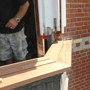 Repair wooden bay window. Wokingham, Berkshire UK