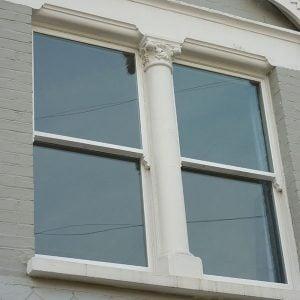Double glazed modern sash window.