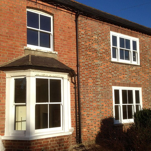 Thame, Oxford Sash Windows | Restored bay window.