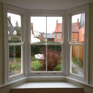 Internal view of refurbished bay window in Oxford