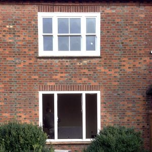 Replacement timber window frame fitted.
