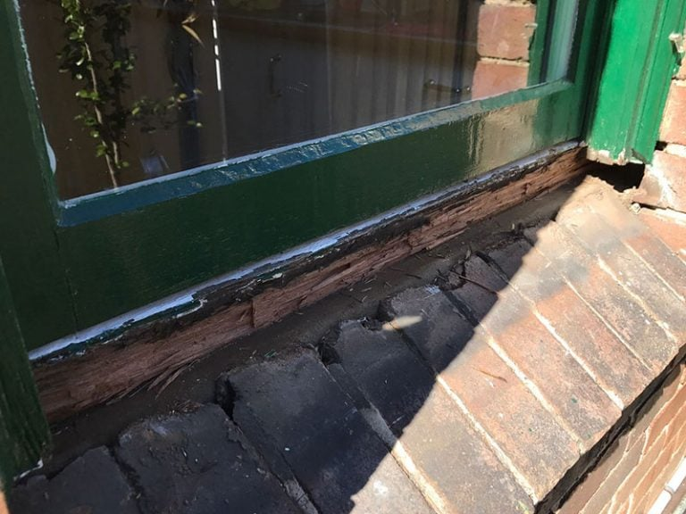 Sash Window Repair Sydney | Replace Rotten Window Sill & Weather seal 1