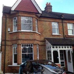 Edwardian sash windows Ealing, London.