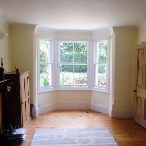 Double Glazed Bay Window Interior. Reading Berkshire.