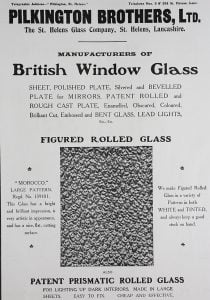 1907 advert for pattern glass