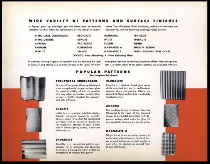 Mississippi-Glass-Company Figured Plate Glass