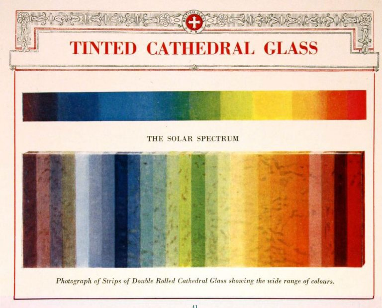 Tinted Cathedral Glass Pilkingtons 1920s
